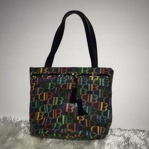 Dooney & Bourke Multicolor Signature Bucket Bag.